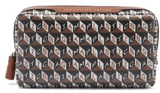 Anya Hindmarch I Am A Plastic Bag Important Things Make-up Bag - Tan Multi