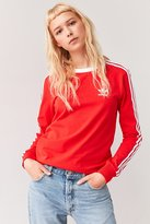 adidas 3 Stripe Long-Sleeve Tee