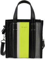 Balenciaga Striped Leather Satchel