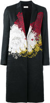 Dries Van Noten abstract print coat