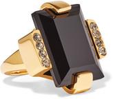 Marni Gold-tone Crystal Ring - small