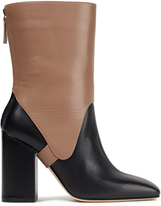 Victoria Beckham Saddle Two-tone Leather Ankle Boots