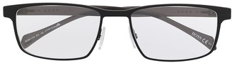 HUGO BOSS Rectangle-Frame Eyeglasses
