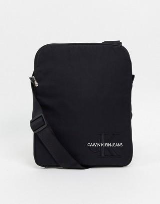 Calvin Klein Jeans monogram nylon flat pack bag