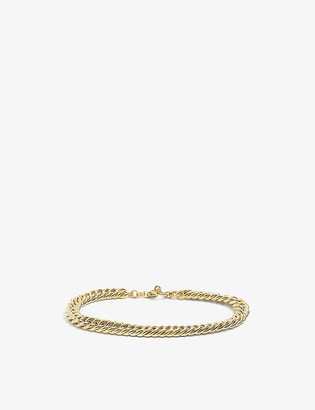 Tilly Sveaas Ltd Large 23ct gold-plated sterling silver curb link choker necklace