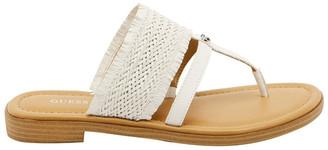 GUESS Geann White Flat Sandal