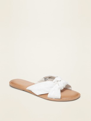 Old Navy Knotted-Twist Slide Sandals for Women