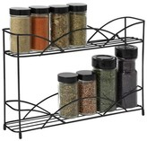 Spectrum Countertop 2-Tier Spice Rack - Black