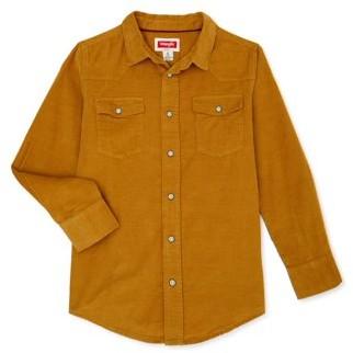 Wrangler Boys Long Sleeve Button-Up Shirt, Sizes 4-18
