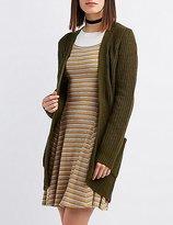 Charlotte Russe Shaker Stitch Longline Cardigan