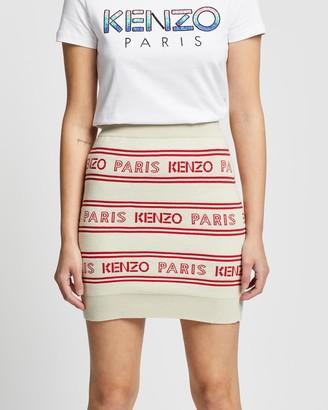 Kenzo All-Over Jacquard Skirt