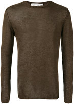 Isabel Benenato semi-sheer jumper - men - Linen/Flax - M