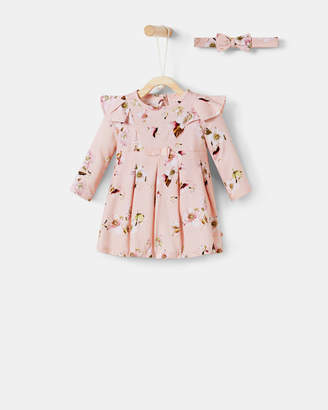 Ted Baker LEANY Floral pleated dress and headband set
