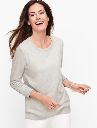 Talbots Heathered Sweatshirt - Foil