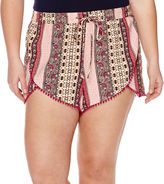 Arizona Pom Pom Shorts - Juniors Plus