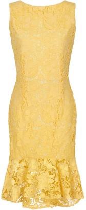 Paper Dolls Lemon Peplum Dress