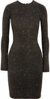 Opening Ceremony Cleo Glittered Stretch-jersey Mini Dress - Charcoal