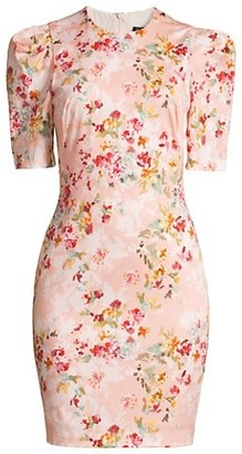 Black Halo Pippa Floral Sheath Dress