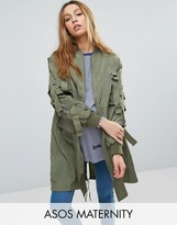 Asos Longline Parka with Parachute Strapping