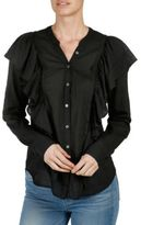 Paige Farren Ruffled Cotton Shirt