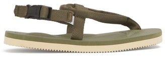 Suicoke Kat-2 Flat Padded-canvas Sandals - Green
