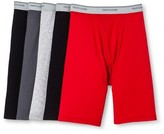 Fruit of the Loom Men's Long Leg Boxer Brief 5pk Assorted Underwear