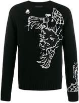 Diesel Black Gold loose thread embroidery jumper