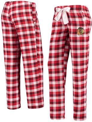 Women's Concepts Sport Red/Black Chicago Blackhawks Piedmont Flannel Pants