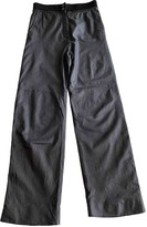 Chanel Grey Leather Trousers for Women