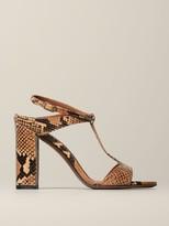 L'Autre Chose Sandal In Python Leather