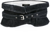Isabel Marant wide waist denim belt - women - Cotton/Steel - M