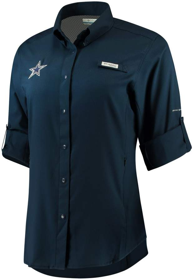 best website 0c5ab 4bc42 Unbranded Women's Navy Dallas Cowboys Tamiami Long Sleeve Shirt