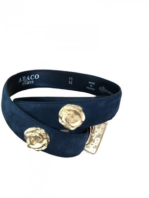 Abaco Blue Leather Belts