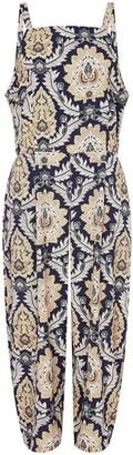 Yumi London Curve Floral Print Plus Size Cullottes Jumpsuit