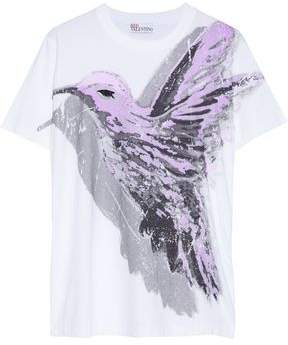 RED Valentino Printed Cotton-jersey T-shirt
