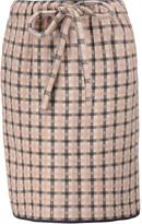 M Missoni Plaid stretch-knit mini skirt