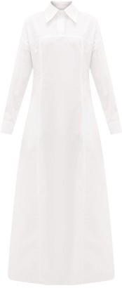 White Story - Masquerade Cotton-poplin Maxi Shirt Dress - White