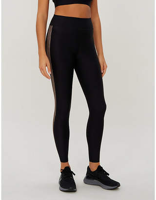 ULTRACOR Six Stripe metallic side-striped high-rise stretch-jersey leggings