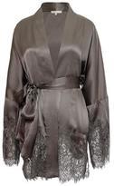 Gold Hawk Hammered Silk Kimono