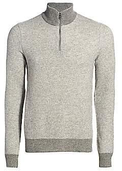 Ralph Lauren Purple Label Men's Half-Zip Cashmere Sweater