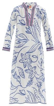 Le Sirenuse, Positano - Giada Paisley-print Cotton-crepe Maxi Kaftan - Blue Print