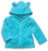 Elegant Baby Size 12M Zip-Front Microfiber Hoodie in Aqua
