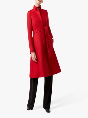 Hobbs Helen Wool Blend Coat, Red