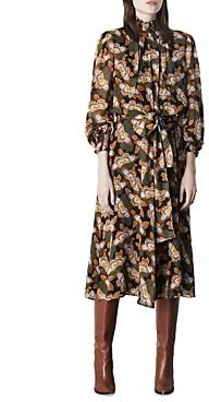 Marella Epopea Printed Belted Dress