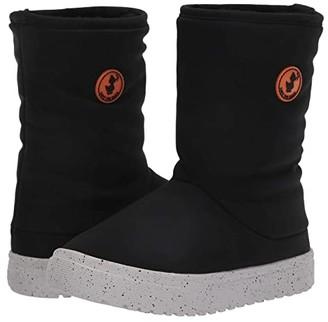 Save the Duck Kids Faux Fur Lined Snow Boots (Little Kids/Big Kids) (Black) Kids Shoes