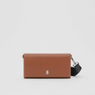 Burberry Grainy Leather Wallet with Detachable Strap
