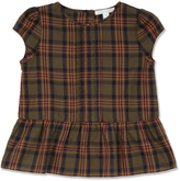 Marie Chantal Girls Khaki Check Peplum Top
