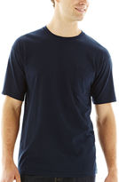STAFFORD Stafford Performance Heavyweight Crewneck Pocket Tee - Big & Tall