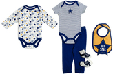 Baby Gear Navy Stripe Star Five-Piece Layette Set - Infant