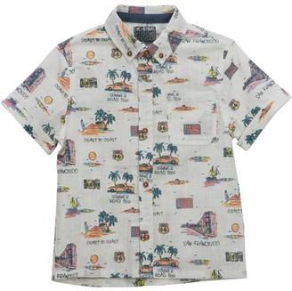 No Retreat Boys Button Up Short Sleeve Pocket Button Down Shirt, Sizes 4-6